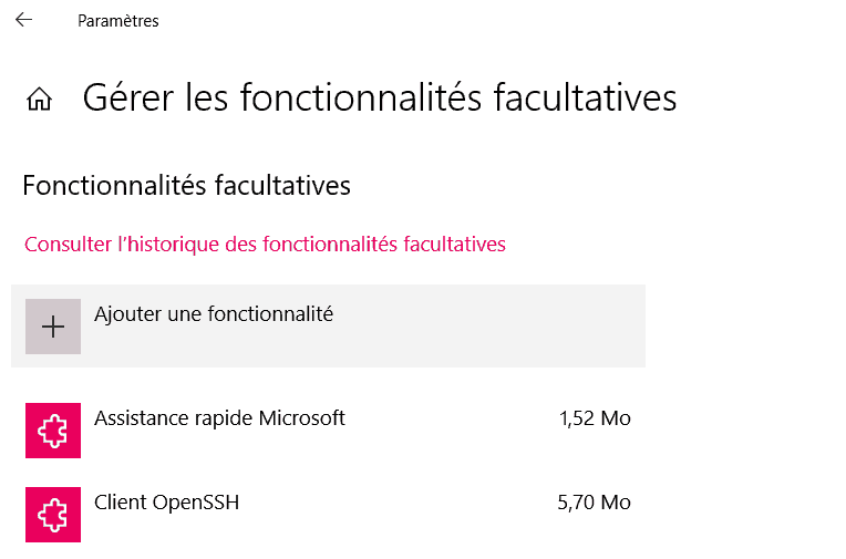 activation openssh windows 10 securité serveur webandsun